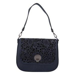 Dámská kožená crossbody kabelka tmavě modrá – ItalY Bettery tmavě modrá
