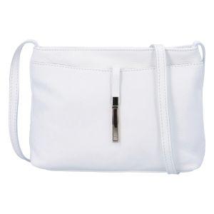 Dámská kožená crossbody kabelka bílá – ItalY Eneta bílá