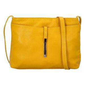 Dámská kožená crossbody kabelka žlutá – ItalY Eneta žlutá
