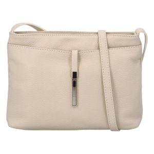 Dámská kožená crossbody kabelka béžová – ItalY Eneta béžová