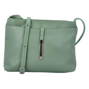 Dámská kožená crossbody kabelka bledě zelená – ItalY Eneta zelená