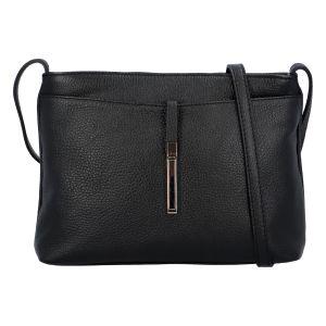 Dámská kožená crossbody kabelka černá – ItalY Eneta černá