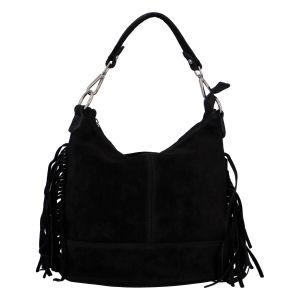 Dámská kožená kabelka přes rameno černá – ItalY Nidden černá