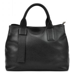 Dámská kožená kabelka Vera Pelle Evita – černá