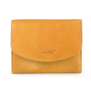 Lagen Dámská kožená peněženka LG-2523-D – žlutá
