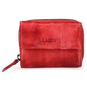 Lagen Dámská kožená peněženka HB-10-18 – červená