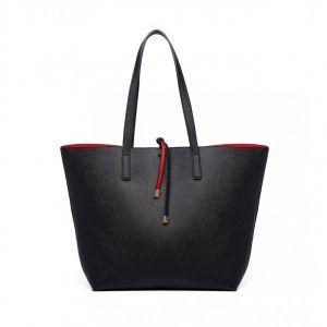 Černá kabelka Reversible Contrast Shopper Tote Bag 82474