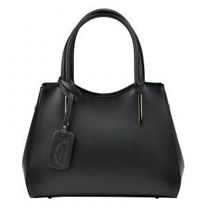 Dámská kožená kabelka Vera Pelle Karmin – černá