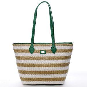 Originální poloslámová kabelka přes rameno mátově zelená – David Jones Nurrse zelená