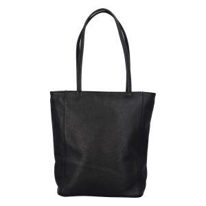Dámská kožená kabelka přes rameno černá – ItalY Nooxies černá