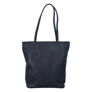 Dámská kožená kabelka přes rameno tmavě modrá – ItalY Nooxies tmavě modrá