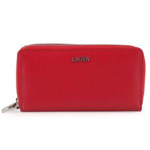 Lagen Dámská kožená peněženka 50386 – červená