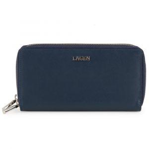 Lagen Dámská kožená peněženka 50386 – modrá