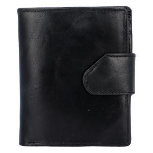 Pánská lesklá kožená peněženka černá – Tomas 75VO černá