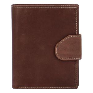 Pánská matná kožená peněženka hnědá – Tomas 75VO hnědá