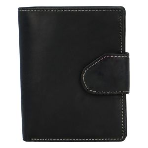 Pánská matná kožená peněženka černá – Tomas 75VO černá