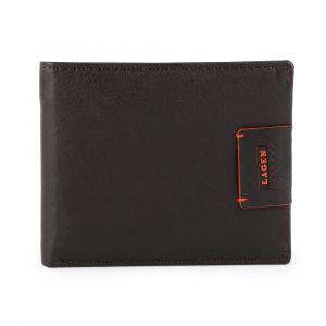 Lagen Pánská kožená peněženka LG-1121 – tmavě hnědá