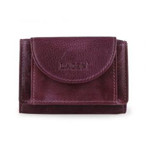 Lagen Dámská kožená mini peněženka W-2030-D – fialová