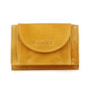 Lagen Dámská kožená mini peněženka W-2030-D – žlutá