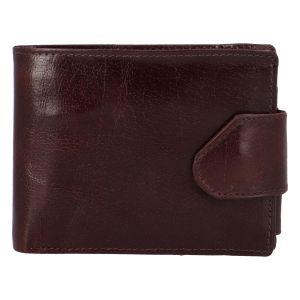 Lesklá pánská hnědá kožená peněženka – Tomas 76VT hnědá