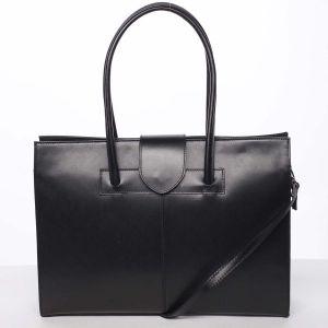 Elegantní a módní dámská kožená kabelka černá – ItalY Alison černá