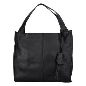 Dámská crossbody kožená kabelka Delami Vanessa – černá