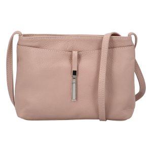 Dámská crossbody kožená kabelka Delami Serena – starorůžová