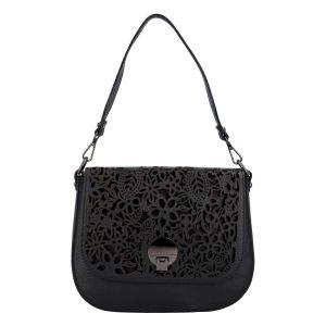 Dámská kožená kabelka Delami Camilla – černá