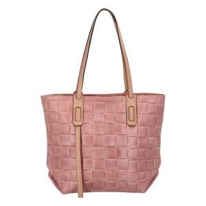 Dámská kožená kabelka Delami Elena – růžová