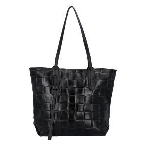 Dámská kožená kabelka Delami Elena – černá