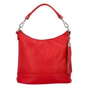 Dámská crossbody kožená kabelka Delami Sara – červená