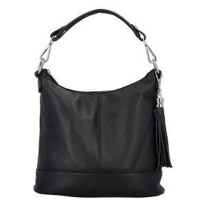 Dámská crossbody kožená kabelka Delami Sara – černá