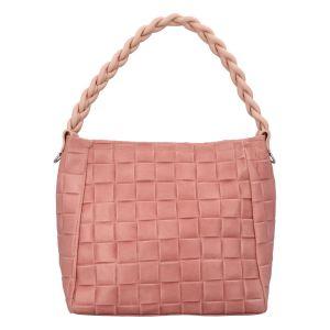 Dámská kožená kabelka Delami Chiara – růžová