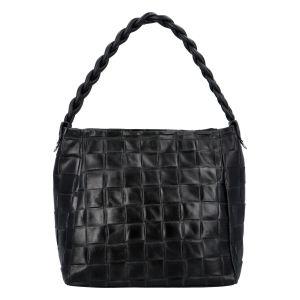 Dámská kožená kabelka Delami Chiara – černá