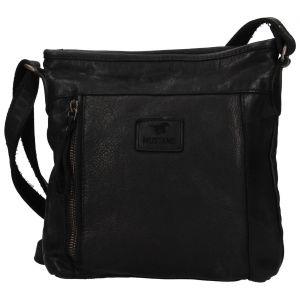 Dámská kožená cossbody kabelka Mustan Laura – černá