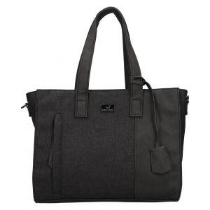Trendy dámská kabelka Mustang Marie – černo-šedá