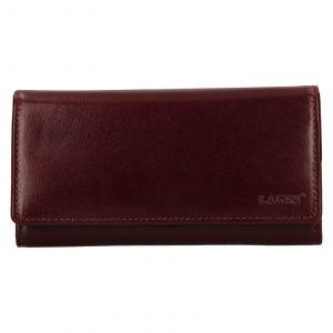 Dámská kožená peněženka Lagen Victorias – vínová