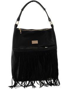 Badura černá kabelka s třásněmi vel. ONE SIZE 147394-545664