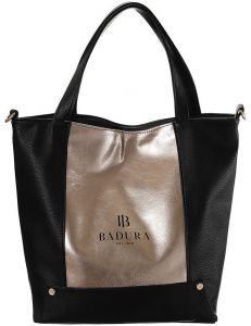 Badura černo-zlatá prostorná shopper bag vel. ONE SIZE 147395-545665