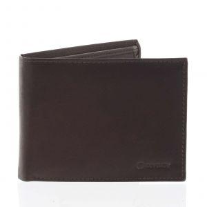 Pánská volná hnědá kožená peněženka – Diviley Cycbet hnědá
