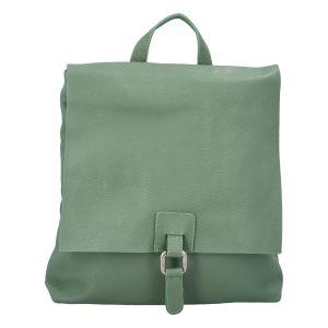 Dámský kožený batůžek kabelka mentolově zelený – ItalY Francesco mentolová