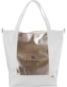 Badura bílo-zlatá prostorná shopper bag vel. ONE SIZE 148175-549289