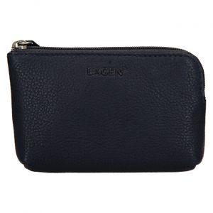 Lagen Dámská kožená mini peněženka-klíčenka BLC/4742 Blue