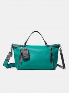 Zelená dámská kabelka Desigual Embossed Half Libia
