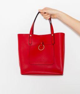 Červená velká kabelka CAMAIEU