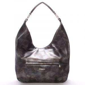 Dámská elegantní kabelka přes rameno grafitová – Delami Anna šedá