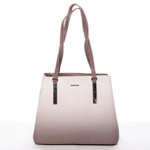 Elegantní dámská kabelka přes rameno hnědá – David Jones Ciénes hnědá