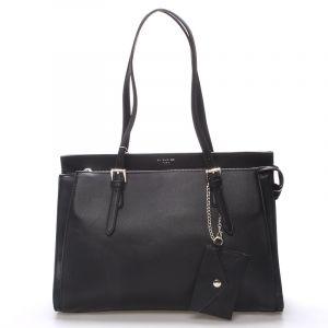 Elegantní černá dámská kabelka přes rameno – David Jones Dennise černá