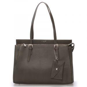 Elegantní khaki dámská kabelka přes rameno – David Jones Dennise Khaki