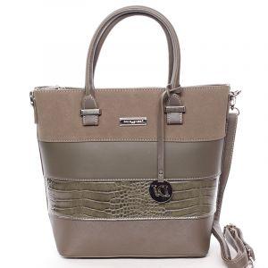 Luxusní dámská kabelka do ruky khaki – David Jones Osetie Khaki